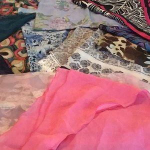 15 various scarfs